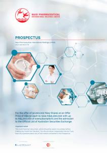 Haixi Pharmaceuticals Prospectus